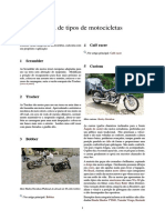 Lista de Tipos de Motocicletas