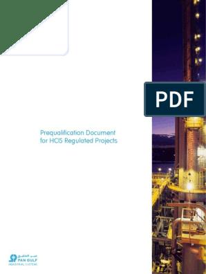 HCIS-PreQualification pdf | Fire Sprinkler System | Pipe (Fluid