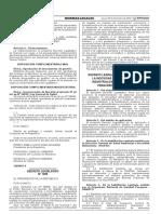 Fortalecimiento de la Inocuidad de Alimentos. Decreto Legislativo 1290.