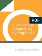 Conducting Investigations