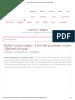 Bellam Paramannam _ Annam Payasam Recipe _ Bellam Pongali