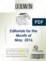 DAWN Editorials - May  2016.pdf