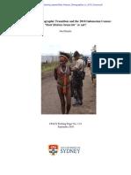 West Papuan Demographics in 2010 Census