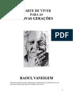 A Arte de Viver Para as Novas Geracoes - Raoul Vaneigem