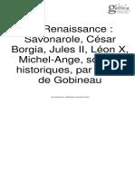 Gobineau La Renaissance