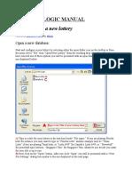 Lotto Logic 2000 Pro User Manual