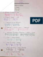 balancing equations worksheet key