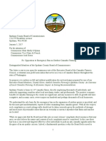Letter to Spokane County Board of Commissioners