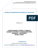 Foursquare Gospel Church Agbado Disrict Proposal Sept 2014 Comprehensive Webservices Proposal Domain Registarion