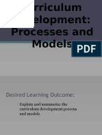 Chapter 1 Module 2 Lesson 3 Curriculum Dev Process Models