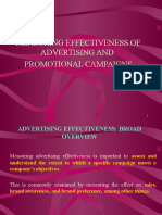 Advertsing and Media Effectiveness