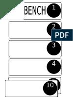 no bench