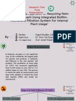 'Sustainable Approach Of Recycling Palm Oil Mill Effluent Using Integrated Biofilm - Membrane Filtration System For Internal Plant Usage'