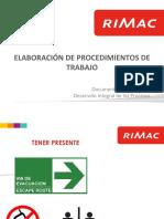 PICLima Elaboracion de Procedimientos de Trabajo