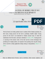 DRYING PROCESS OF BERRY FRUIT BY VACUUM DRYING EQUIPMENT  (SIMULATION PROCESS VIA COMSOL)