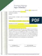 Carta Proyecto Presentacion