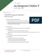 Temp Tables Odi