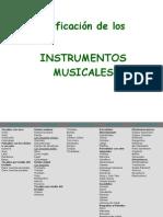 Copia de Clasificación de los instrumentos musicales