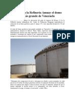 Instalado en La Refinería Amuay El Domo Geodésico Más Grande de Venezuela