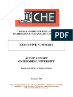 Institutional Audits 2005 Rhodes Executive Summary