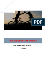Vocabulary by Topics for IELTS and TOEFL