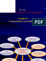 Lecture 8- Construction Cost Estimates