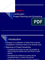 Lecture 9- Project Planning and Scheduling
