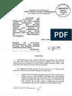 Ileco 3 OrderERCCaseNo2016-001RC Approval