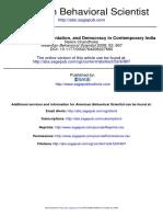 807Participation, Representation, and Democracy in Contemporary India