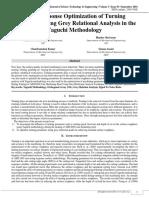 Multi Response Optimization of Turning Parameters Using Grey Relational Analysis in the Taguchi Methodology