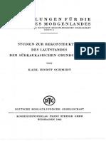 Schmidt - Studien zur Rekonstruktion des Lautstandes der südkaukasischen Grundsprache (1962)