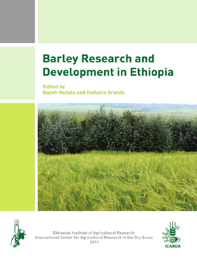 BarleyResearchandDevelopmentinEthiopiapdf Barley Crop Rotation
