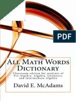 Dictionar Explicativ Matematica - Engleză