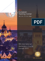 IBA Training Course Europe 2016