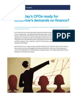 Are Todays CFOs Ready for Tomorrows Demands on Finance