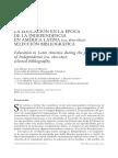 LA EDUCACIÓN EN LA ÉPOCA DE LA INDEPENDENCIA EN AMÉRICA LATINA (ca. 1810-1850)