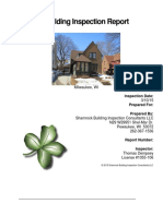 Shamrock Residential Inspection Sample Report