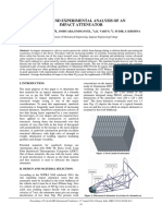 Design and Experimental Analysis of an Impact Attenuator