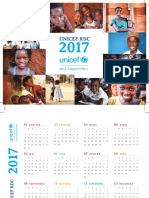 Calendrier UNICEF RDC 2017