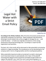 Help Avoid Legal Hot Water with a Strict Email Policy