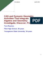 CASandDymanicGeometryActivitiesThatIntegrateAlgebraandGeometry