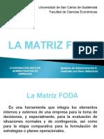 La Matriz FODA -2012