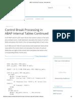 ABAP Control Break Processing - SUM Statement