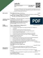 resume clarke jan 2017