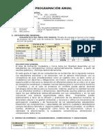 Programación Anual de FCC - 1º SEC