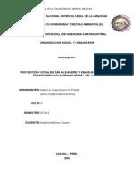 Proyección Social en San Alejandro y en Aguaytia Sobre La Transformación Agroindustrial Del Cacao