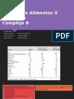 Análisis de Alimentos II Vitaminas
