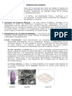 Mineralogía General