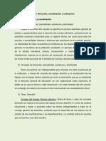 6 B1) Dirección, Coordinación y Evaluación PDF