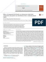 Effects of oxygenated fuel blends on carbonaceous particulate composition and particle size distributions from a stationary diesel engine